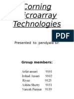 Corning Micro Array Technology