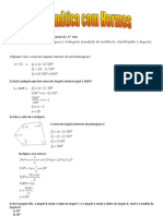 Exercícios do 8° anos - ângulos de um polígono e triângulos