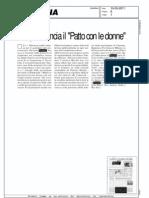 """PISAPIA RILANCIA IL """"PATTO CON LE DONNE"""" (LA PREALPINA)"""
