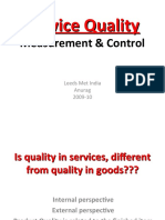 Service Quality Measurement n Control