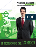 Programa Electoral para Donostia - San Sebastian. EAJ-PNV