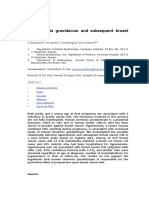 sis Gravid Arum and Subsequent Breast Cancer Risk
