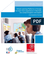Learning Platforms; UK Denmark, Spain