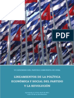 Folleto Lineamientos VI Congreso Partido Comunista de Cuba
