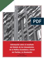 Tabloide Debate Lineamientos VI Congreso Partido Comunista de Cuba