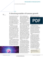 A Shocking Enabler of Tumour Growth