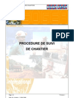 Procedures de Suivie de Chantier