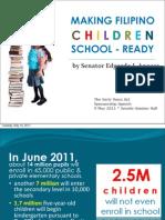 "Early Years Act Sponsorship Speech - ""Making Filipino Children School-Ready"" (05.09.2011)"