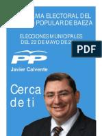 Programa Electoral PP BAEZA