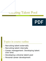 Creating Talent Pool