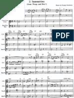 Summertime, Gershwin, for recorder quartet