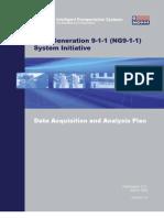 "US Department of Transportation (DOT) ""Next Generation 911"" Data Acquisition v1.0 Plan (2008)"