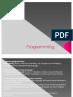 ICTL Notes - Programming