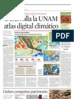 Desarrolla la UNAM atlas digital climático