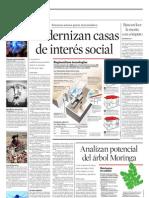 Modernizan casas de interés social