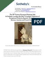 19th Century European Paintings PR 18 May 2011