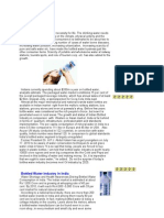Bottle Water Industry