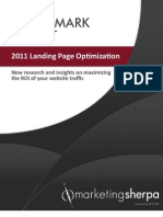 2011 Landing Page Optimization Benchmark Report - EXCERPT