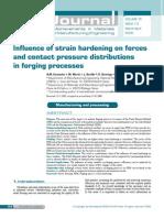 Strain Hardening in Forging