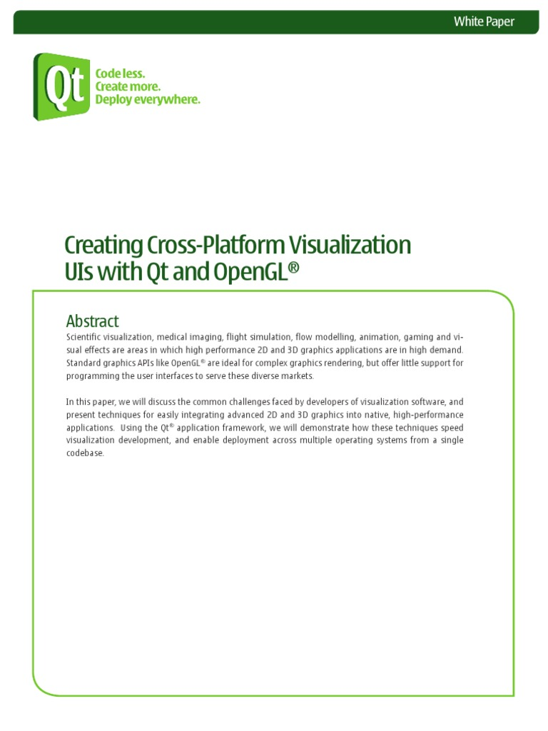 Creating Cross Platform Visualization Uis With Qt and