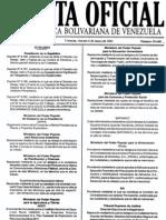 Gaceta 39668 (Ley Especial Dignificacion Trabajadores Residenciales 6-5-2011