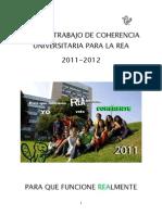 Plan de Trabajo para la REA - Coherencia Universitaria