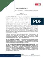 Proyecto de Ley de 2009 Estatuto Del Trabajo