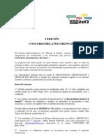 Bases Concurso Relatos 2011