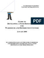 Guidance Document Warehouses Food Defense AF910