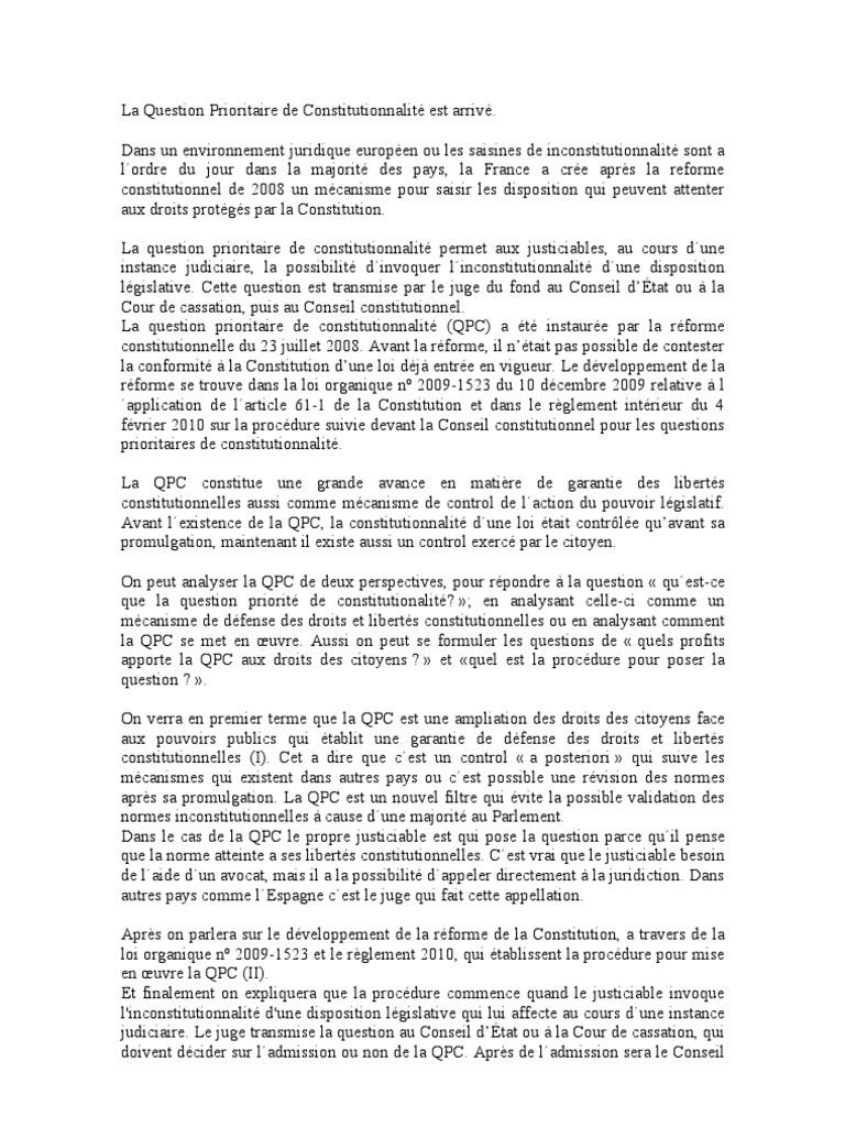 Dissertation droit civil l1