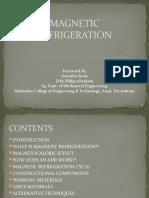 Magnetic Refrigeration Pyro Pptx
