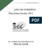 Programa Electoral IU Pegalajar