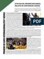 ¡No a la cooptación del régimen neoliberal y proimperialista de Juan Manuel Santos!