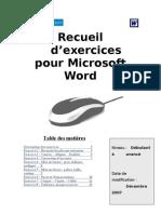 Word Exercice Recueil