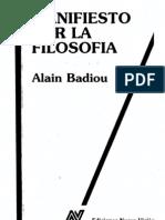 22578173 Badiou Alain Manifiesto Por La Filosofia 1989[1]