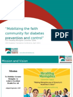 Mobilizing the faith community for diabetes prevention and control
