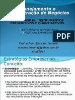 Apresentação FASE III Estratégias e Políticas Empresariais