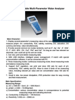 Introduction for DZB-718 Portable Multi-Parameter Water Analyzer(1)