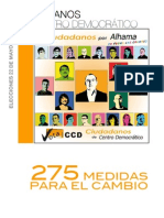 Pograma Proyecto Electoral CCD en Alhama de Murcia