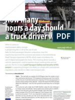 How many  hours a day should  a truck driver work?