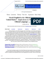 An Argument _ Should English Be the Official Language of the United States