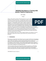 A Survey of ABAQUS Simulations in Technip USA Deepwater Pipeline Engineering