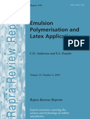 Emulsion Polymerization and Latex Applications | Natural