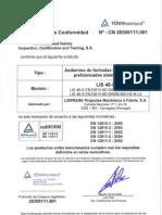 Confirmación de Conformidad TUV LIS48S (es)