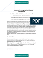 User subroutine for compressive failure of composites