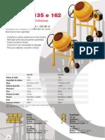Catálogo Betoneira Profissional LIS 135 e LIS 162 (pt)
