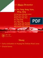 China's Major Dynasties