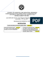 CSIR Net Notify June2011