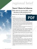 Regional Brief 78 Taxers' Choice in Cabarrus