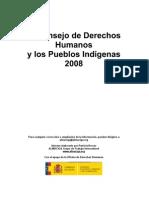 Informe Pueblos Indigenas y CDH 2008 Log